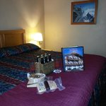 Room with package items we purchased