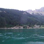 Das Bild entstand bei einer romantischen Abend-Bootsfahrt auf dem Haldensee mit dem Hotel-eigene