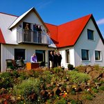 Gudrun, Valur and at their guesthouse. (70660414)
