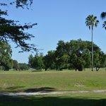 Campo de Golf ao fundo
