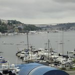 View of Lake Union from the room before the 4th.