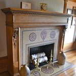 Love the decorations on this fireplace