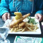 fish + chips two pieces of haddock—prepared grilled or fried golden brown $16