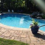 The heated pool behind Hampton Terrace