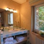 one of the bathrooms in the two bedroom cottage
