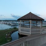 The Gazebo looking out over the marina