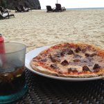 Chicken adobo pizza was only ok on the beach