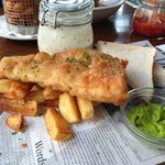 An great fish & double cooked chips