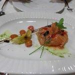 ensalada de salmon con agucate