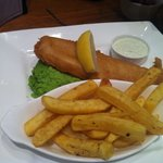 Cod and chips, very tasty.