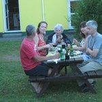 Guests enjoying the bbq