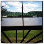 our breakfast view at Welch's Riverside