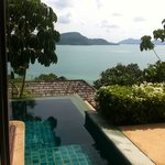 View from our pool villa