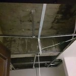 Ceiling in the toilet after the crashed