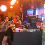 Lan, the Barista & a Client @ the Coffee Bar