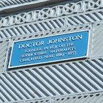 Dr Johnston's plaque