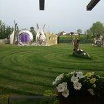 giardino con sculture