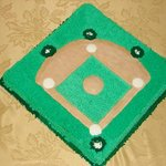 Baseball Theme Grooms Cake