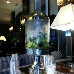 Lobby ~ citrus flavored water dispenser - Nice touch!