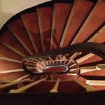 Vista de cima das escadas