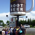 Look for the big Root Beer and you are there.