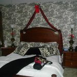 """The bed in """"The Suite"""" room"""