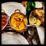 chicken vindaloo & shahi chicken korma