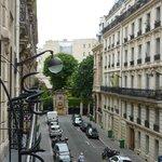 rue de l'hôtel vue du balcon