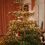 Christmas tree in lobby area