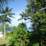 View of Anse Kerlan from balcony