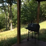 Here's the grill.  Bring your own charcoal and pay it forward to the next guest!