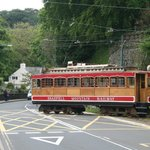 Crossing the road at Laxey
