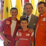 HERMAN FAMILY WITH LUC MONTEZEMOLO, CEO OF FERRARI IN MARANELLO, ITALY