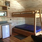 Full size bunk beds in medium cabin