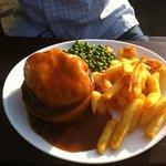 Good pub grub. Steak pie with plenty of tender meat.