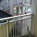 Better shot of Obscured Balcony View from the far southwest corner of hotel
