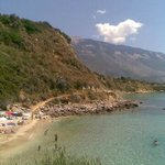 view towards Trapazaki Beach and Lourdas
