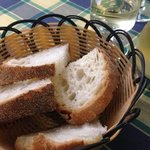 Service bread and a quarter liter of white wine