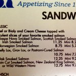 "A Small Sample of the Sandwich Menu - Notice the Different Ways You Can Order a ""Classic"""