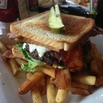 The DELICIOUS BLT Burger w/ Fries