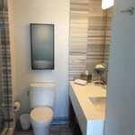 The toilet and basin