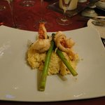 3rd course - wild mushroom and lobster risotto