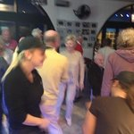 Members of Benavista Bowls Club having a boogie at their private event- even the staff joined in