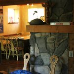 Stone fireplace in Guesthouse