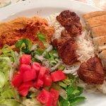 Lamb Kebab platter - yum!