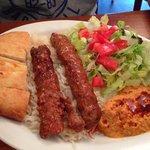 Adana kebab platter