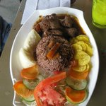 Gallo pinto (rice & beans) with beef