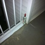 liquor bottles on walkways for days