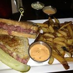 Reuben sandwich is so delicious!