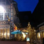 The restaurant in the evening